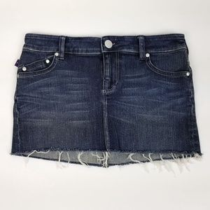 Victoria Beckham Medium Wash Denim Mini Skirt NWOT